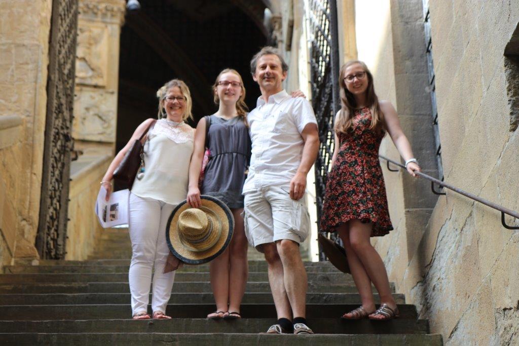 Famille Ghillebaert: Isabelle, François, Julie et Chloé